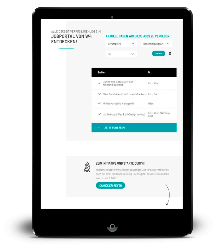 Tablet-Jobliste-jobs.w4.at