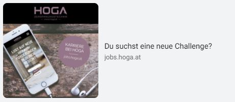 Social Media Anzeige Jobs für Hoga